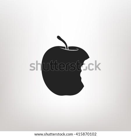 Bitten apple icon vector, Bitten apple icon eps10, Bitten apple icon picture, Bitten apple icon flat, Bitten apple icon, Bitten apple web icon, Bitten apple icon art, Bitten apple icon drawing - stock vector