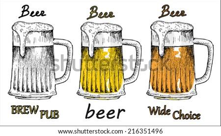 bitter beer - stock vector