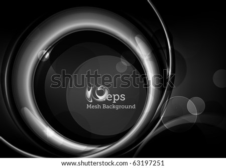 Black Abstract background, eps10 - stock vector
