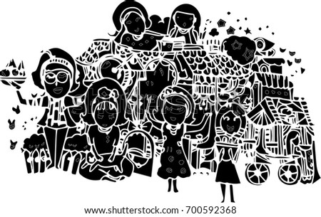 Line Art Design Abstract : Black abstract vector line art design stock