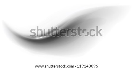 Black abstract wave on white background