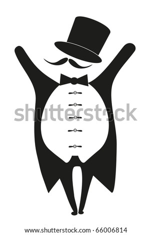 black actor on white background - stock vector