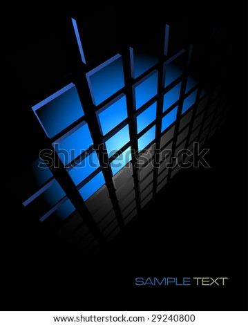 black and blue abstract background composition - vector illustration - jpeg version in my portfolio - stock vector