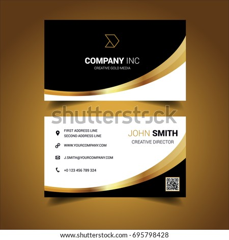 Black gold curved business card stock vector hd royalty free black gold curved business card stock vector hd royalty free 695798428 shutterstock colourmoves
