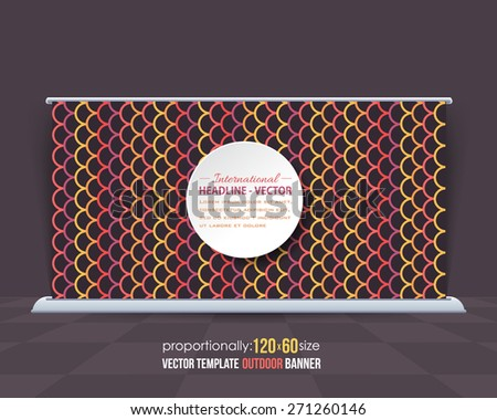 Black and Multicolor Wave Style Lines Theme Outdoor Banner or Horizontal Website Banner Design, Advertising Vector Template  - stock vector