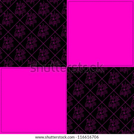 Black and pink - stock vector