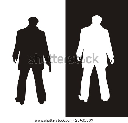 black and white - stock vector
