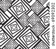 Black-and-white abstract background with squares. Seamless pattern. Vector illustration. - stock vector