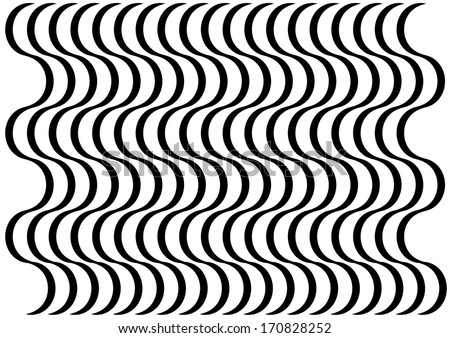 Black and White Abstract Curve Pattern. Vector