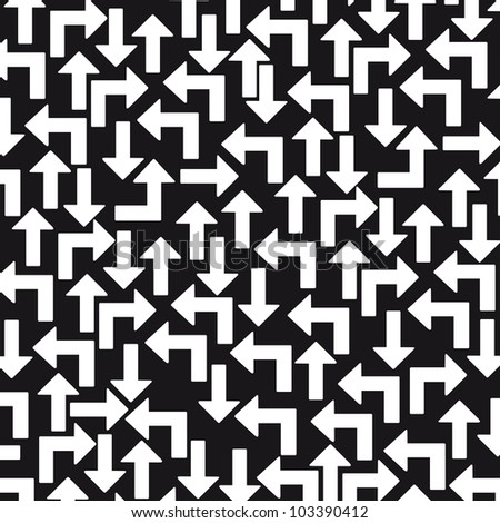 black and white arrows background. vector illustration - stock vector