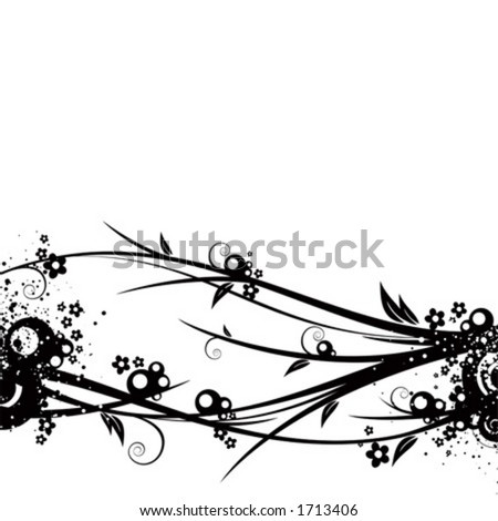 Black and white background illustration - stock vector