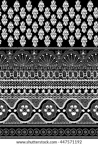 black and white border pattern
