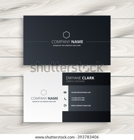 Business card stock images royalty free images vectors black and white business card reheart Image collections