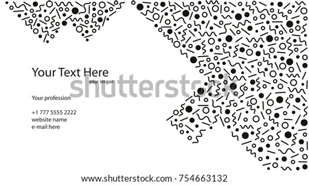 Black white business card template memphis stock vector 754663132 black and white business card template in memphis retro style abstract design for printing fbccfo Choice Image