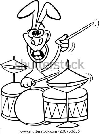 Black White Cartoon Vector Illustration Funny Stock Photo (Photo ...