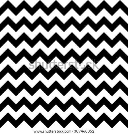 black and white chevron pattern - stock vector