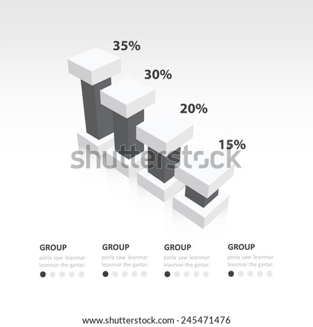 black and white color 3d infographic the presentation of data template