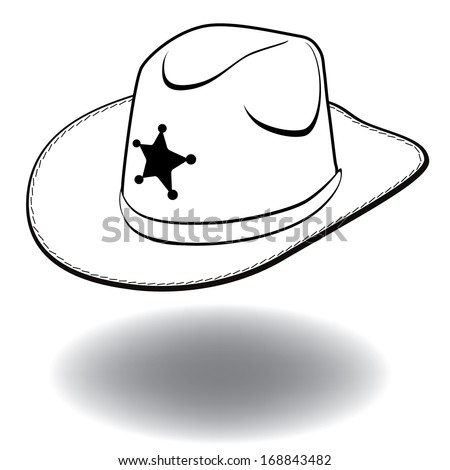 Simple Cowboy Hat Drawing