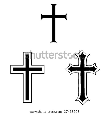 black and white crosses