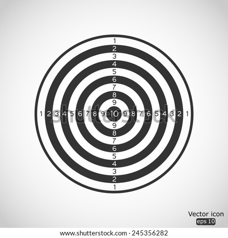 black and white dartboard vector icon