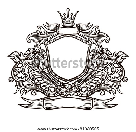 black and white emblem in isolation - stock vector