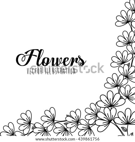 Black and white floral design