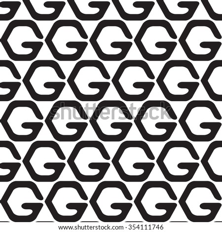 Black and white geometric pattern, background vector.
