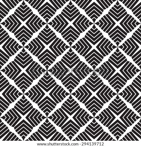 Black and white geometric pattern vector illustration . Modern stylish texture .