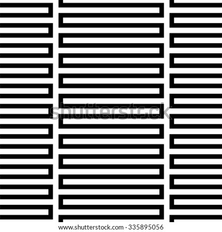 Black and white geometric seamless pattern, abstract background, vector - stock vector