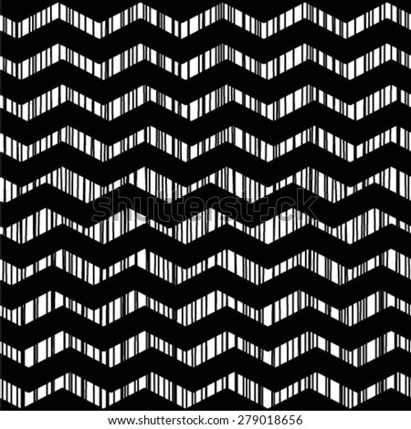 Black and white geometrical template for design. Repeating geometric tiles with zigzag