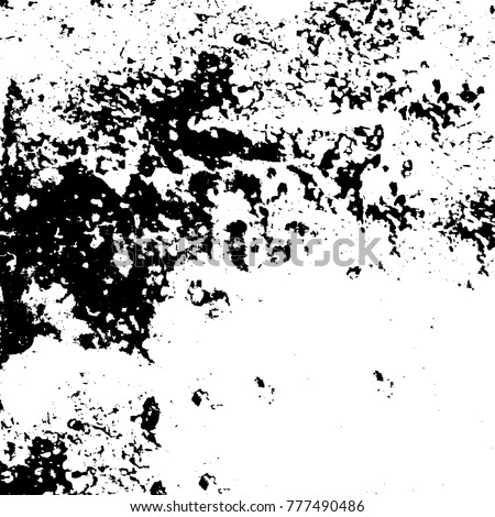 Black and white grunge background. Abstract vector texture of the ink spots. Vintage elements for printing on business cards, posters and design your own