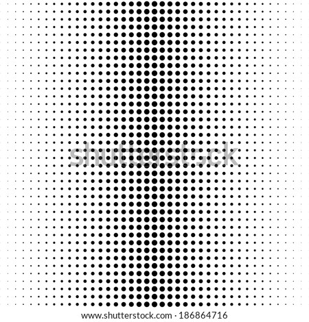 Black and white halftone dotted background - stock vector