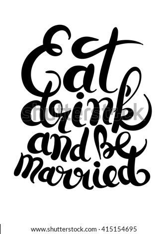 Eat Drink And Be Merry Invitation Symbol Word