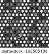 Black and white hexagon honeycomb geometric seamless pattern, vector - stock