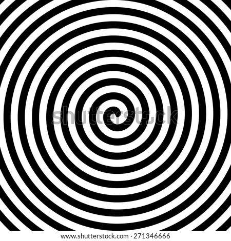 Black and white hypnosis spiral. Vector. - stock vector