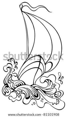 waves and splashes coloring pages - photo#5
