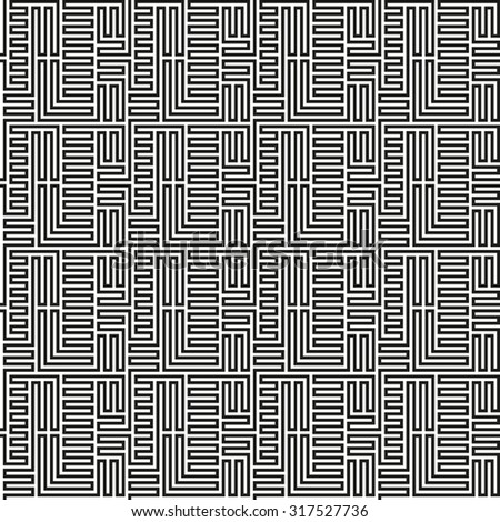Black and White Maze Pattern