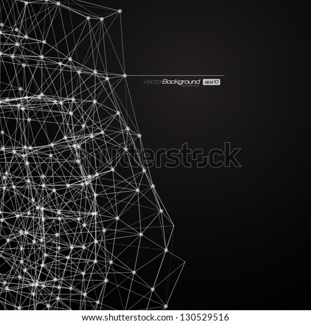 Black and White Modern Lines Background | Vector Illustration - stock vector
