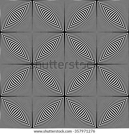 Black and white optical illusion. - stock vector