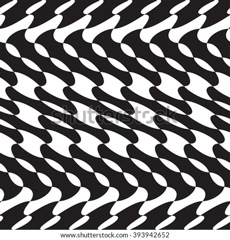 Black and white - optical illusion - stock vector