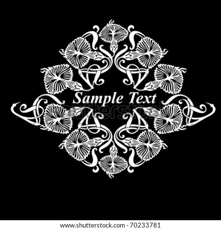 Celtic Designs Flower Patterns Stock Photos, Illustrations, and Vector ...