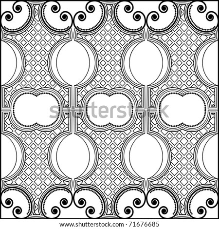 black and white pattern - stock vector