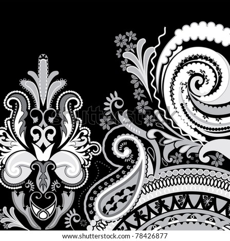 Black-and-white pattern - stock vector