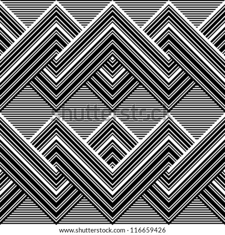 Black and white pattern by lines - stock vector
