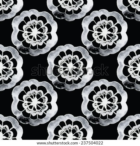 Black and white pattern. Damask seamless pattern. Vector illustration. - stock vector