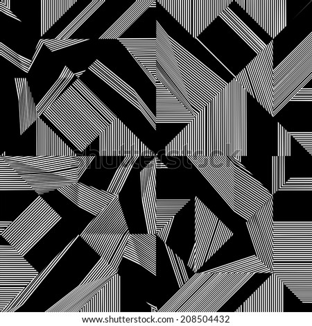 Black And White Pattern Vector 100 - stock vector