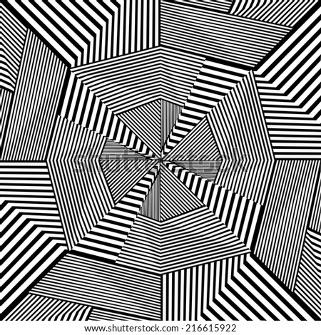 Black And White Pattern Vector 119 - stock vector