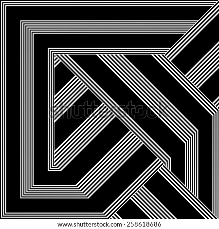 Black And White Pattern Vector 146 - stock vector