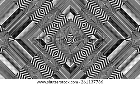 Black And White Pattern Vector 151 - stock vector