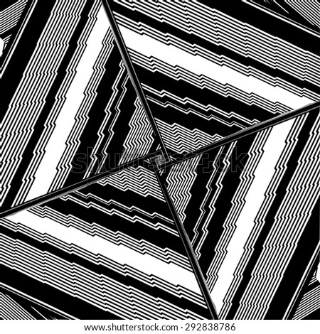 Black And White Pattern Vector 164 - stock vector